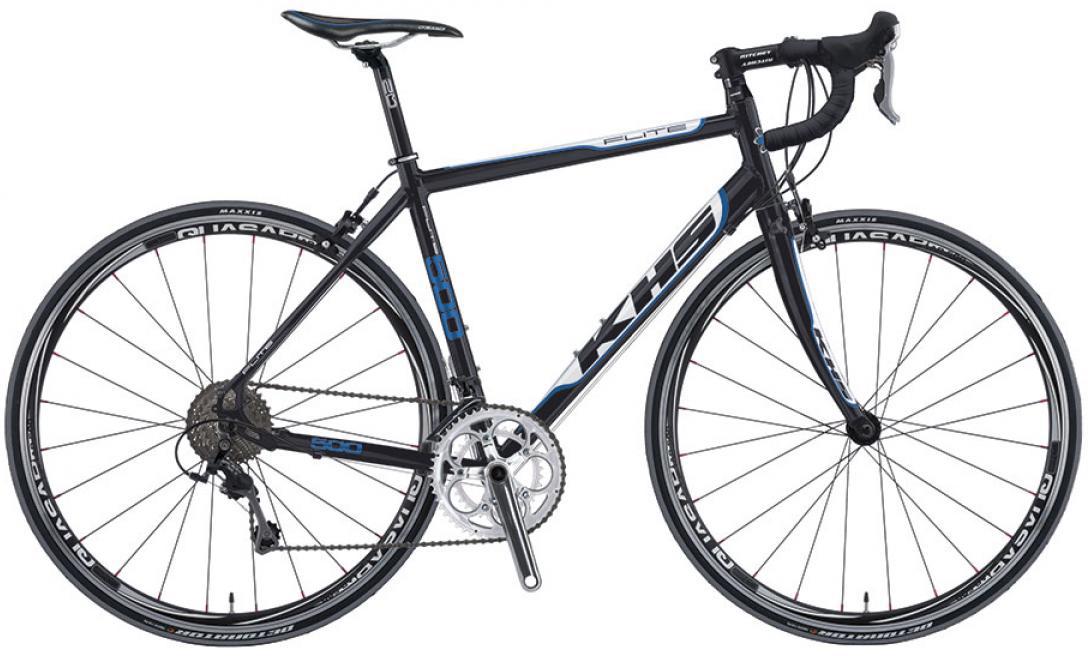 Велосипед шоссейный KHS Flite 500 2016, цвет: черный, рама 24, колесо 28258760