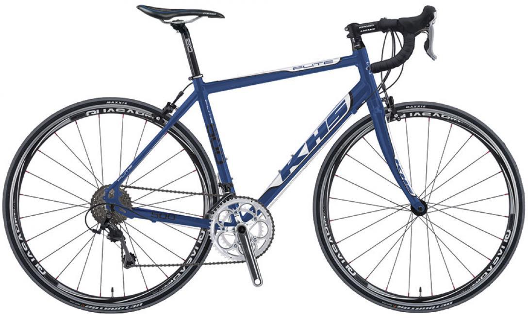 Велосипед шоссейный KHS Flite 500 2016, цвет: синий, рама 23, колесо 28258765