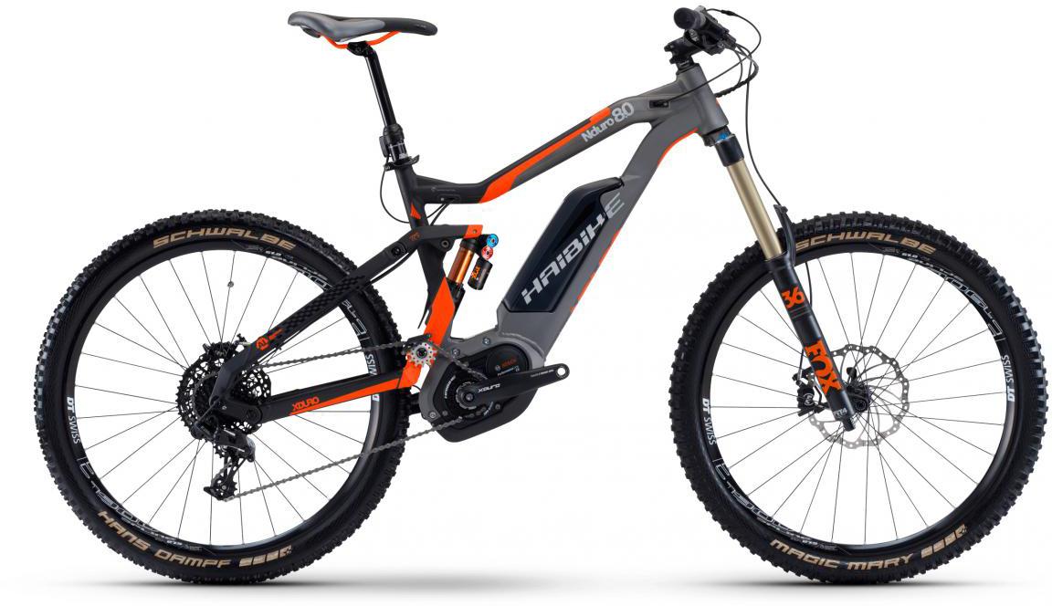 Электровелосипед горный Haibike Xduro Nduro 8.0 500Wh 2017, цвет: серый, рама 19,5, колесо 27,5283852