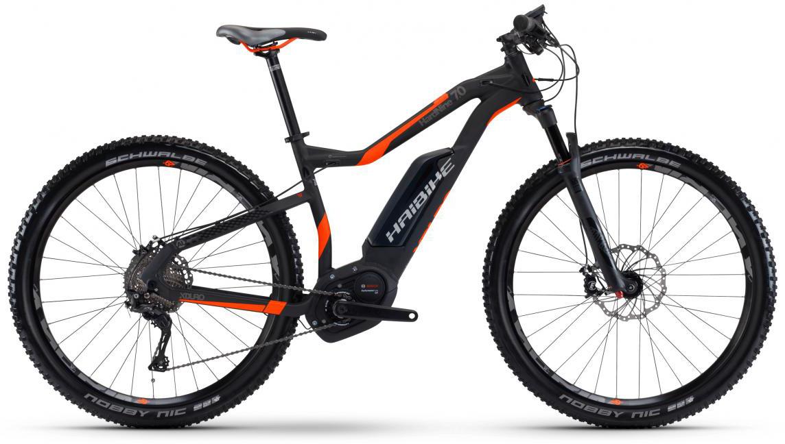 Электровелосипед горный Haibike Xduro HardNine 7.0 500Wh 2017, цвет: черный, рама 18, колесо 29283904
