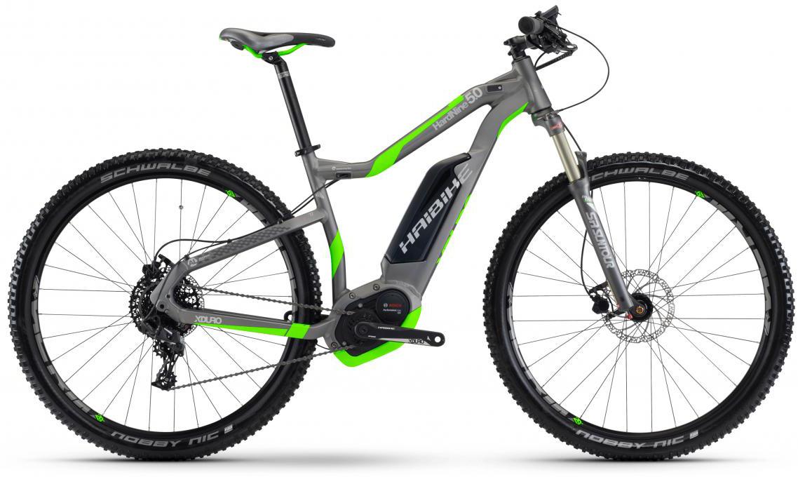 Электровелосипед горный Haibike Xduro HardNine 5.0 500Wh 2017, цвет: серый, рама 16, колесо 29283917