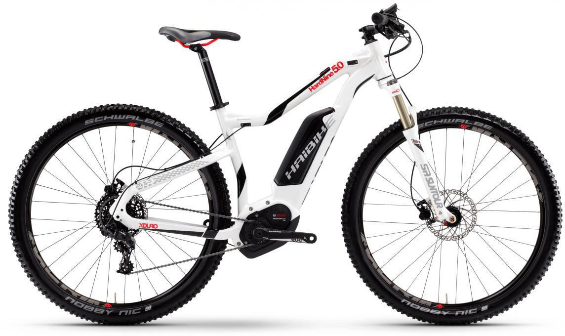 Электровелосипед горный Haibike Xduro HardNine 5.0 500Wh 2017, цвет: белый, рама 19,5, колесо 29283919