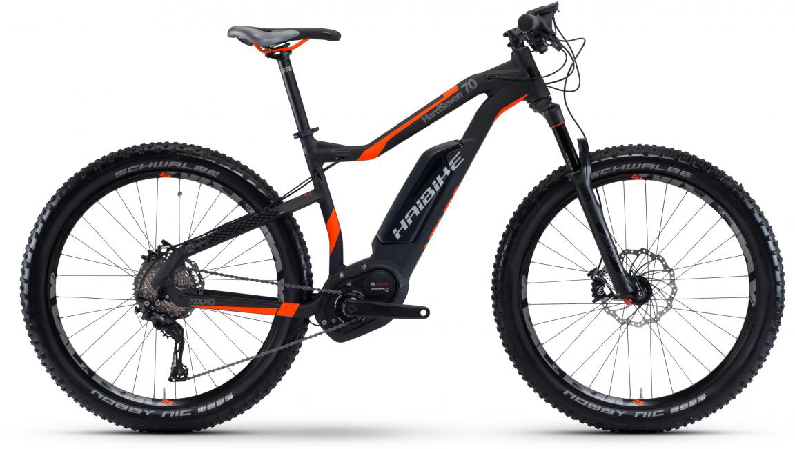 Электровелосипед горный Haibike Xduro HardSeven 7.0 500Wh 2017, цвет: черный, рама 16, колесо 27,5283936