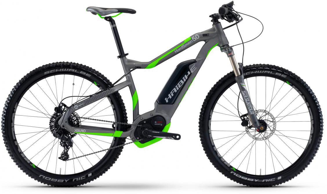 Электровелосипед горный Haibike Xduro HardSeven 5.0 500Wh 2017, цвет: серый, рама 16, колесо 27,5283948