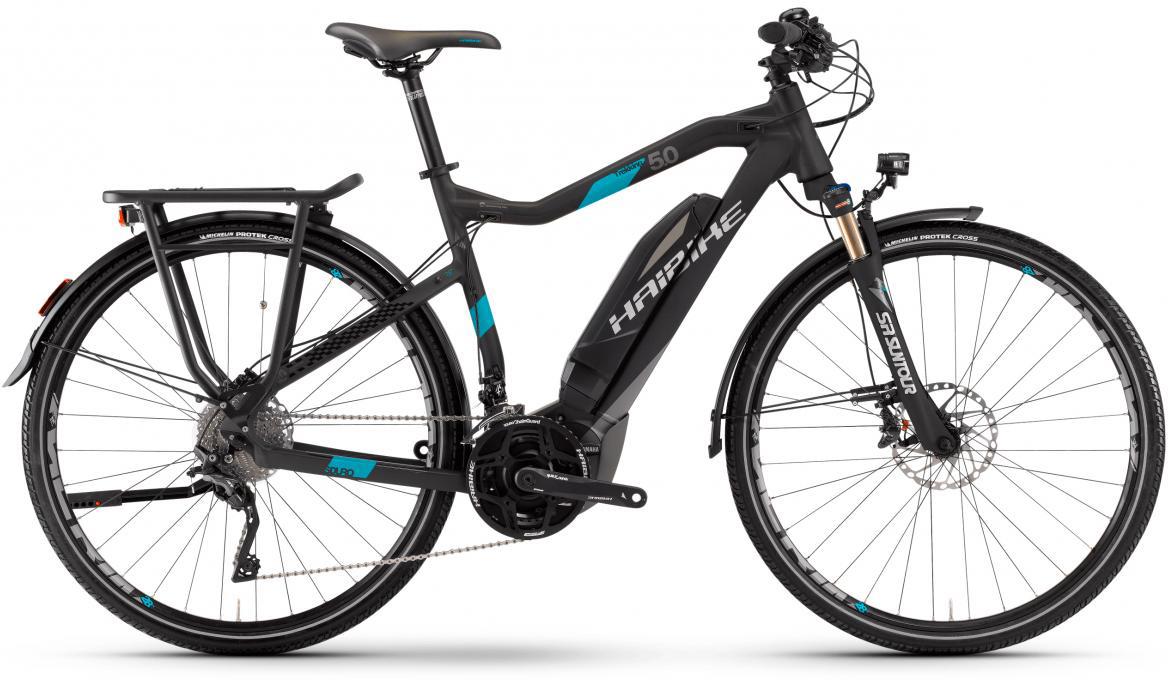 Электровелосипед городской Haibike Sduro Trekking 5.0 500Wh 2017, цвет: черный, рама 20,5, колесо 28283967