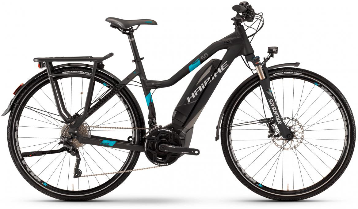 Электровелосипед женский Haibike Sduro Trekking 5.0 Low-Step 500Wh 2017, цвет: черный, рама 17,5, колесо 28283972