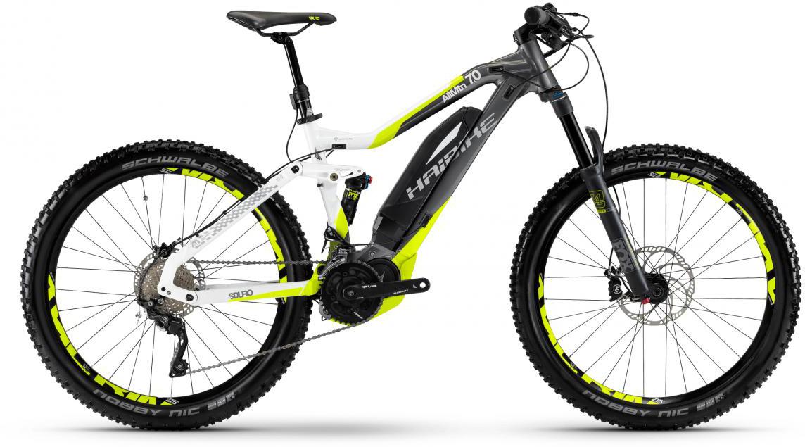 Электровелосипед горный Haibike Sduro AllMtn 7.0 500Wh 2017, цвет: серый, рама 17,5, колесо 27,5283985