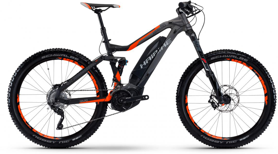 Электровелосипед горный Haibike Sduro AllMtn 8.0 500Wh 2017, цвет: серый, рама 19,5, колесо 27,5283991