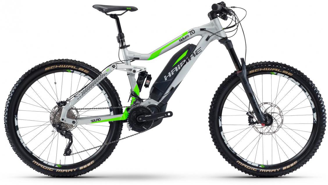 Электровелосипед горный Haibike Sduro Nduro 7.0 500Wh 2017, цвет: серый, рама 16,5, колесо 27,5283996