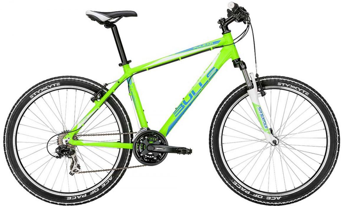 Велосипед горный Bulls Pulsar 2015, цвет: зеленый, рама 14,5, колесо 26128395