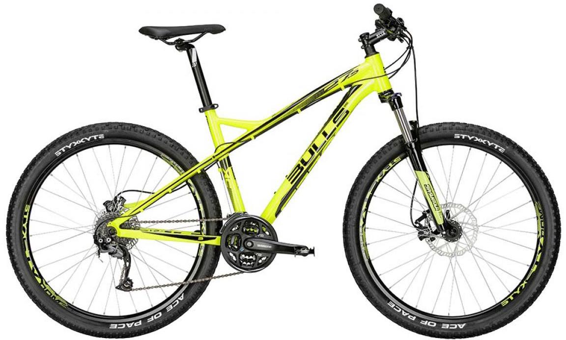 Велосипед горный Bulls Sharptail 2 Disc 2015, цвет: желтый, рама 16, колесо 27,5128520