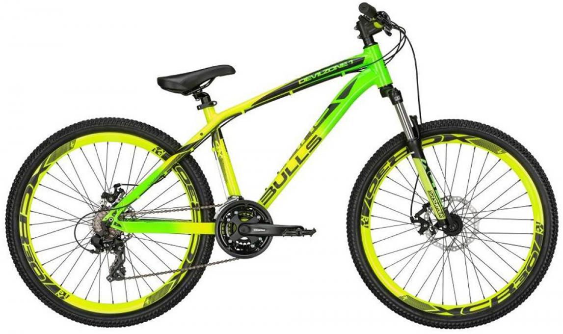 Велосипед горный Bulls Devilzone 1 2015, цвет: зеленый, рама 14,5, колесо 26128901