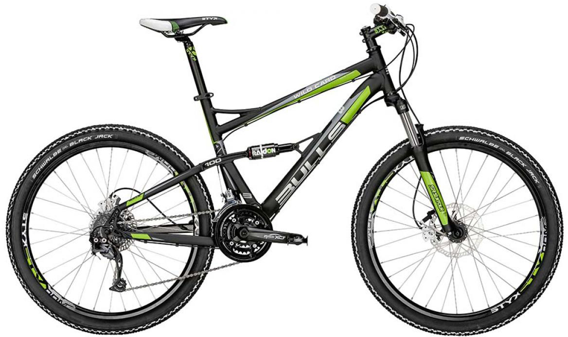 Велосипед горный Bulls Wild Card 1 2015, двухподвесный, цвет: черный, рама 20, колесо 26128909