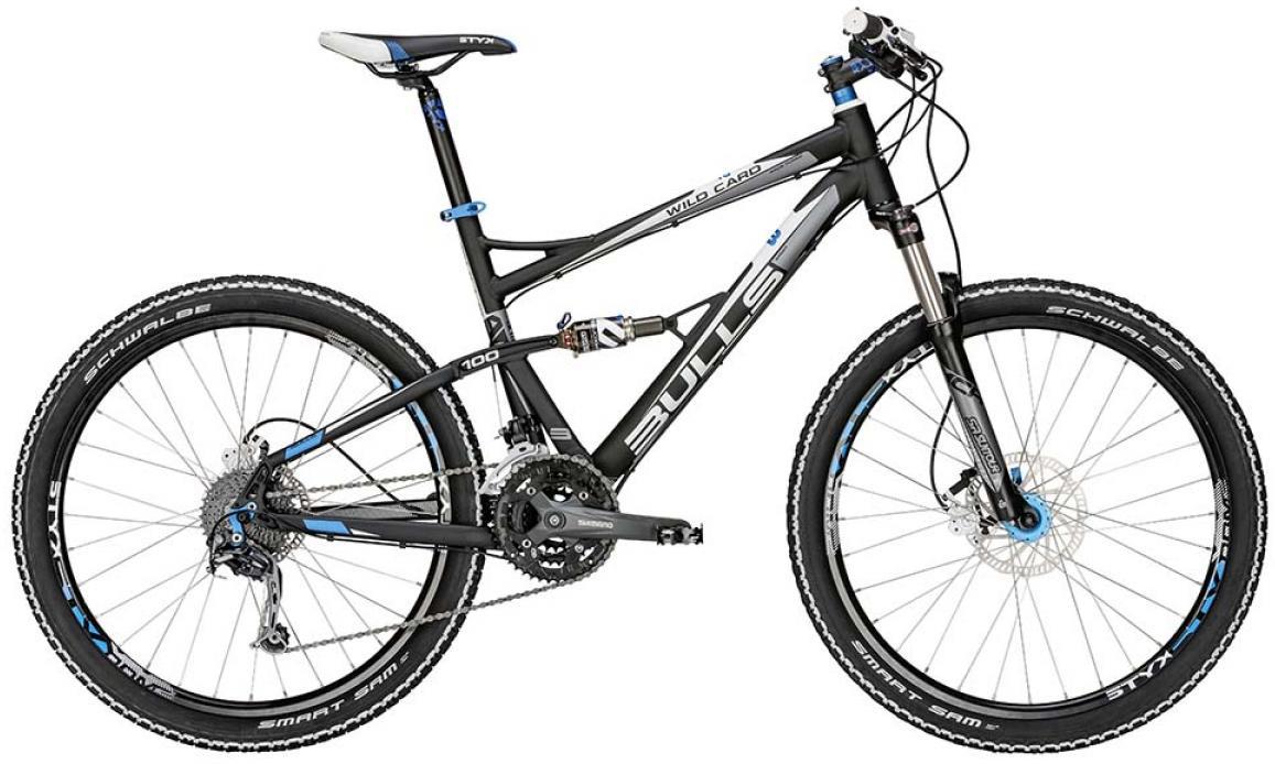 Велосипед горный Bulls Wild Card 2 2015, двухподвесный, цвет: черный, рама 16, колесо 26128910