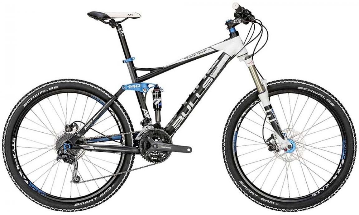Велосипед горный Bulls Wild Cup 1 2015, двухподвесный, цвет: черный, рама 17, колесо 27,5128913