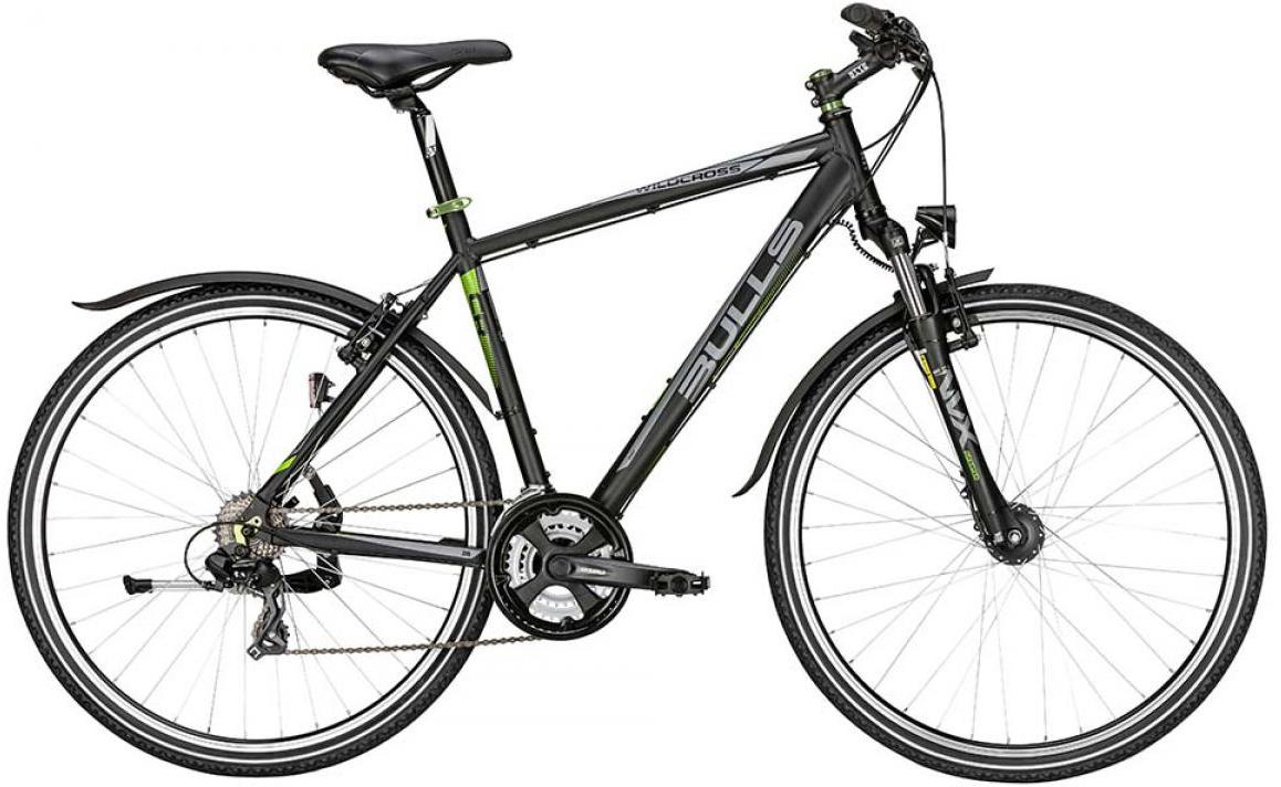 Велосипед городской Bulls Wildcross Street 2015, цвет: черный, рама 21,5, колесо 28129051