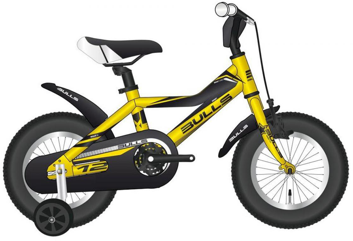 Велосипед детский Bulls Tokee Lite 2015, цвет: желтый, колесо 12129146