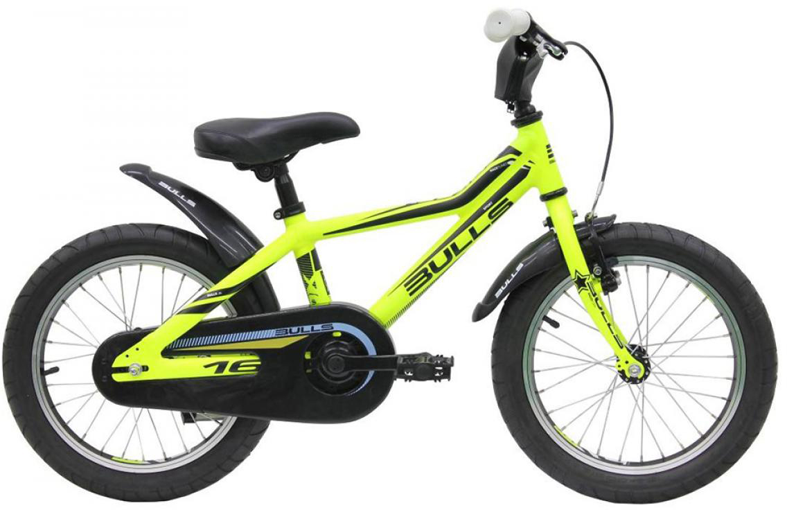 Велосипед детский Bulls Tokee Lite 2015, цвет: желтый, колесо 16129150