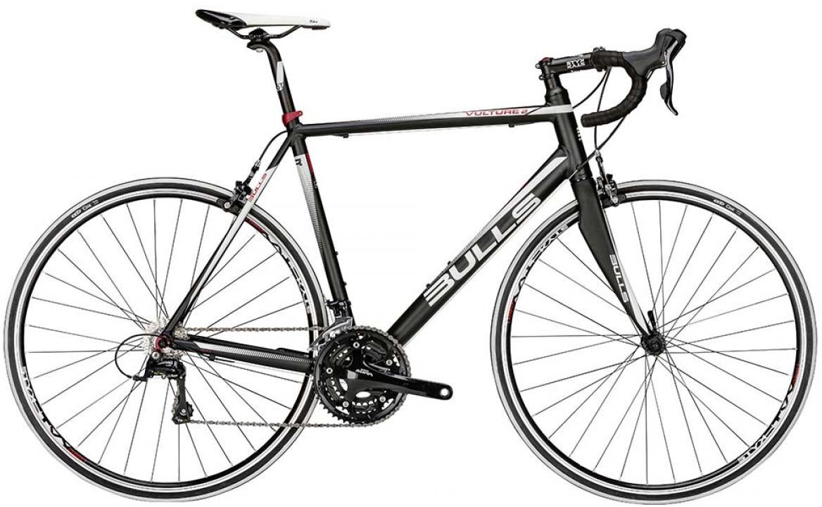 Велосипед шоссейный Bulls Vulture 2 2015, цвет: черный, рама 21, колесо 28129266