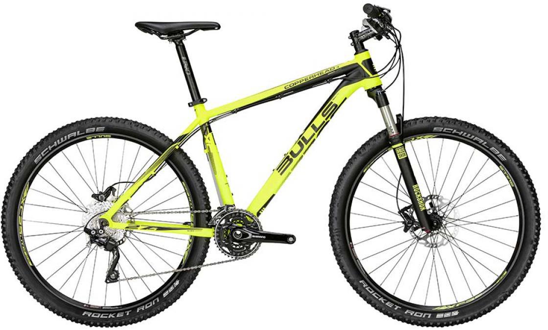 Велосипед горный Bulls Copperhead 3 2015, цвет: желтый, рама 20, колесо 27,5129411
