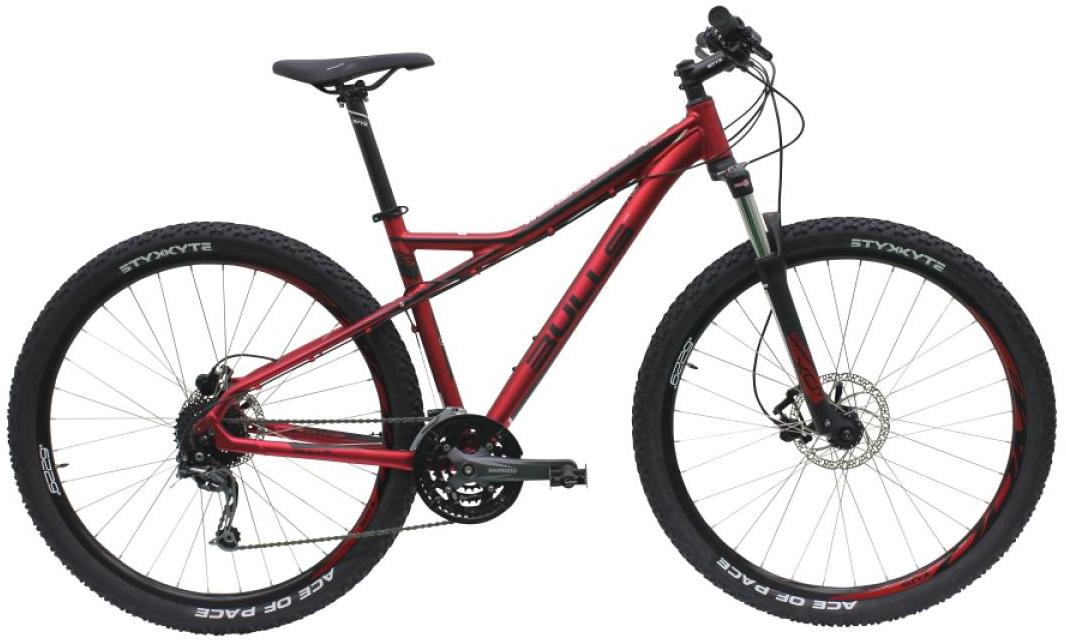 Велосипед горный Bulls Sharptail 3 Disc 2016, цвет: красный, рама 18, колесо 29257124