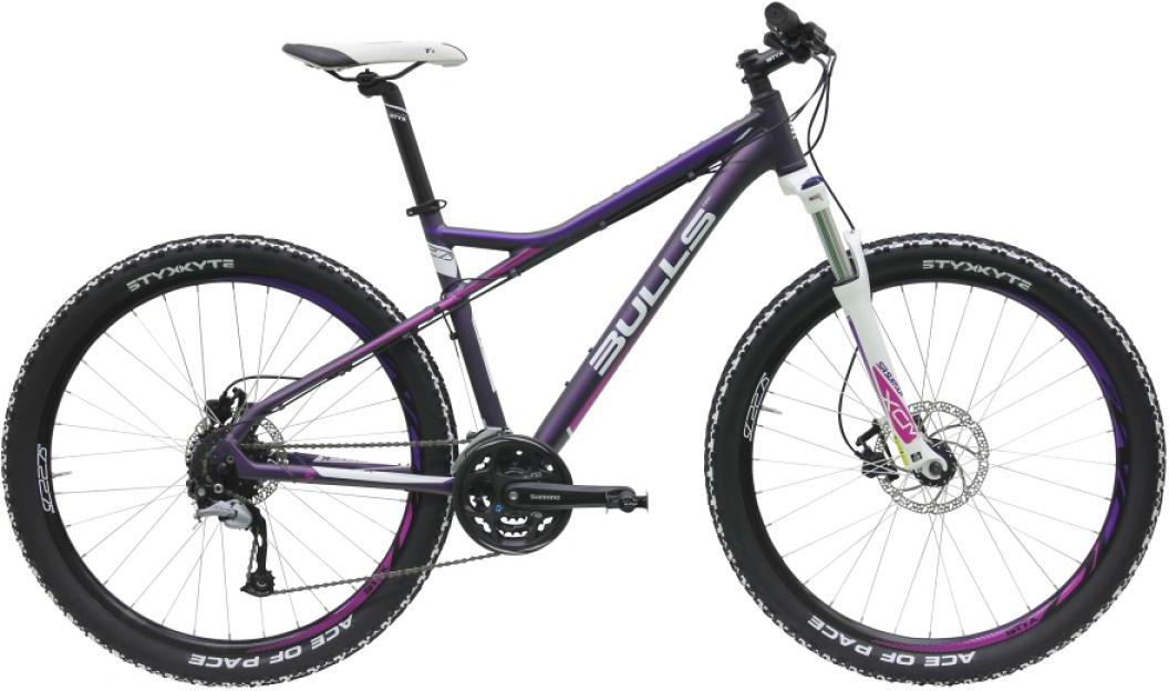 Велосипед женский Bulls Zarena 2016, цвет: фиолетовый, рама 18, колесо 27,5257176