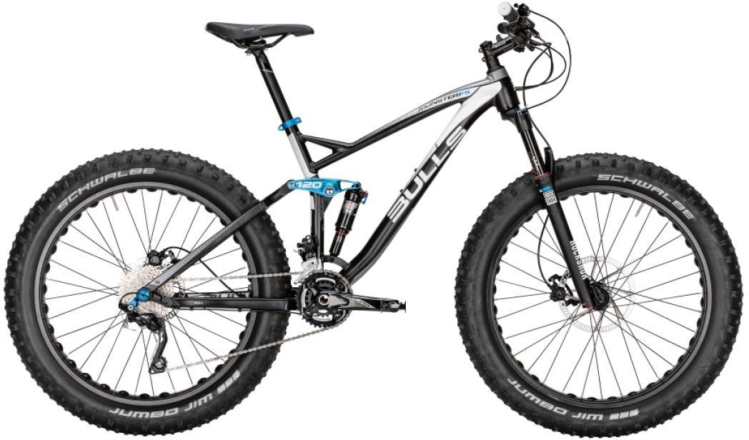 Велосипед горный Bulls Monster FS 2016, цвет: черный, рама 18, колесо 26257252