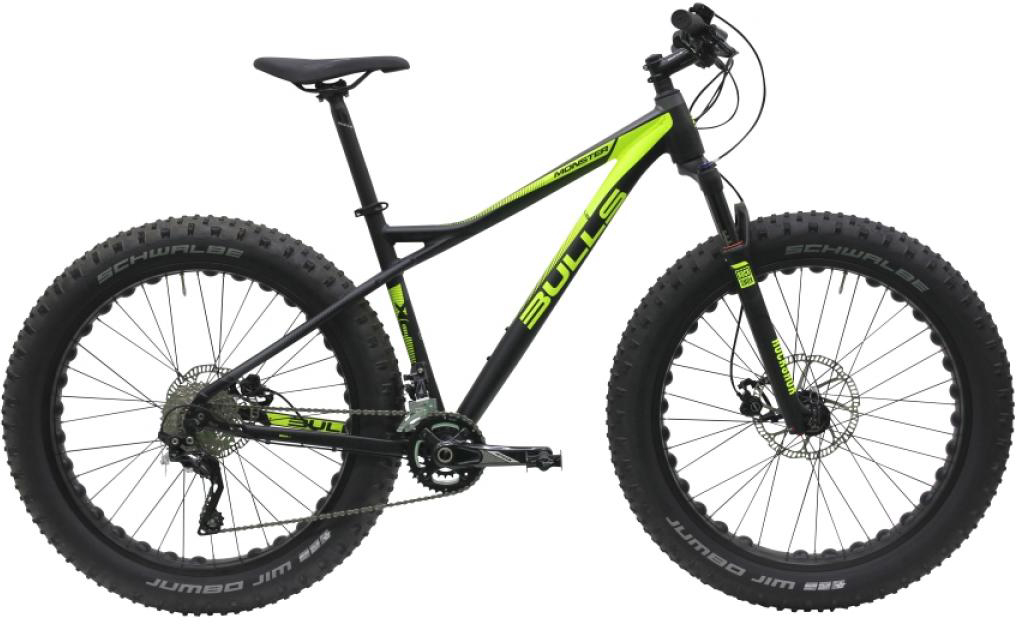 Велосипед горный Bulls Monster S 2016, цвет: черный, рама 18, колесо 26257256