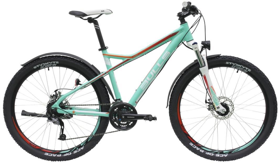 Велосипед горный Bulls Zarena Street 2016, цвет: зеленый, рама 18, колесо 27,5257415