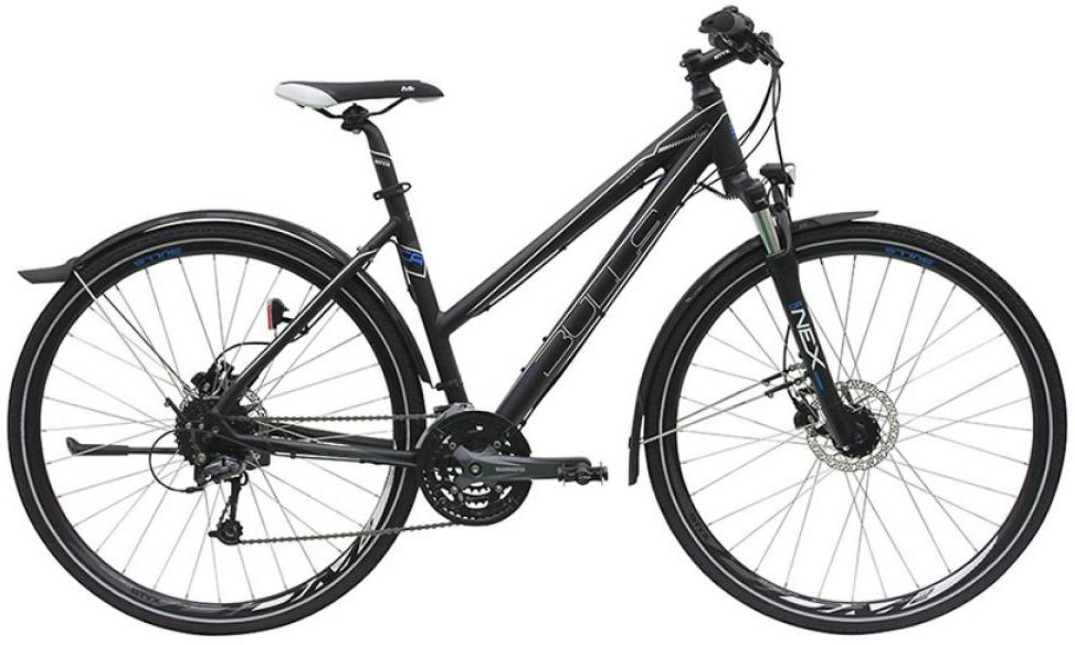 Велосипед женский Bulls Cross Flyer Disc 2016, цвет: черный, рама 21,5, колесо 28257457