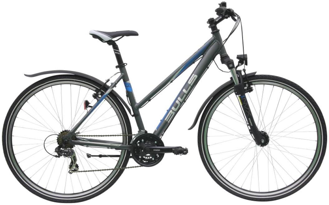 Велосипед женский Bulls Pulsar Cross Street 2016, цвет: серый, рама 17,5, колесо 28. 0257464257464