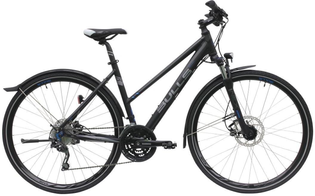 Велосипед женский Bulls Cross Street Disc 2016, цвет: черный, рама 21,5, колесо 28257489