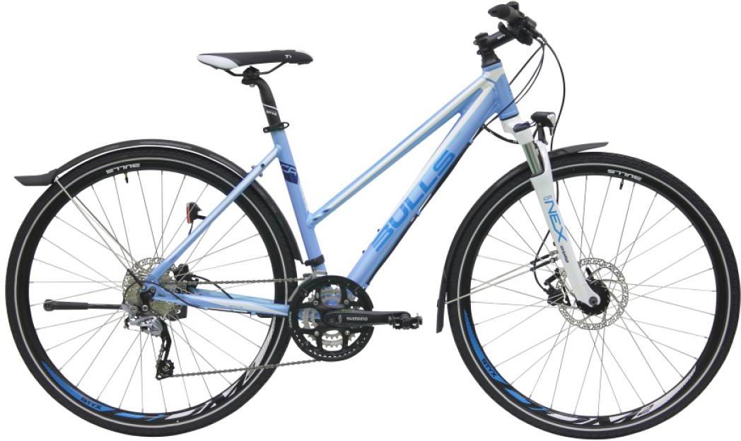 Велосипед женский Bulls Cross Street Disc 2016, цвет: синий, рама 19, колесо 28257491