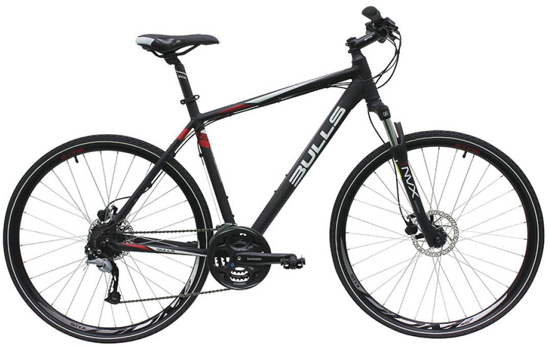 Велосипед городской Bulls Cross Bike 1 Gent 2016, цвет: черный, рама 23, колесо 28257571