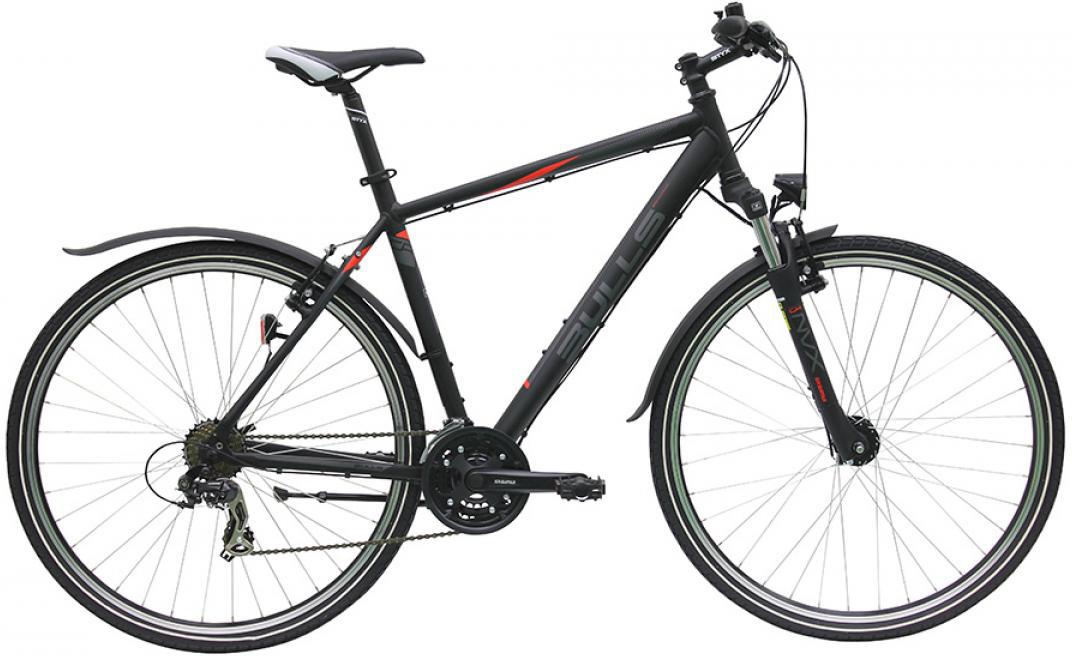 Велосипед городской Bulls Pulsar Cross Street Gent 2016, цвет: черный, рама 21,5, колесо 28257640