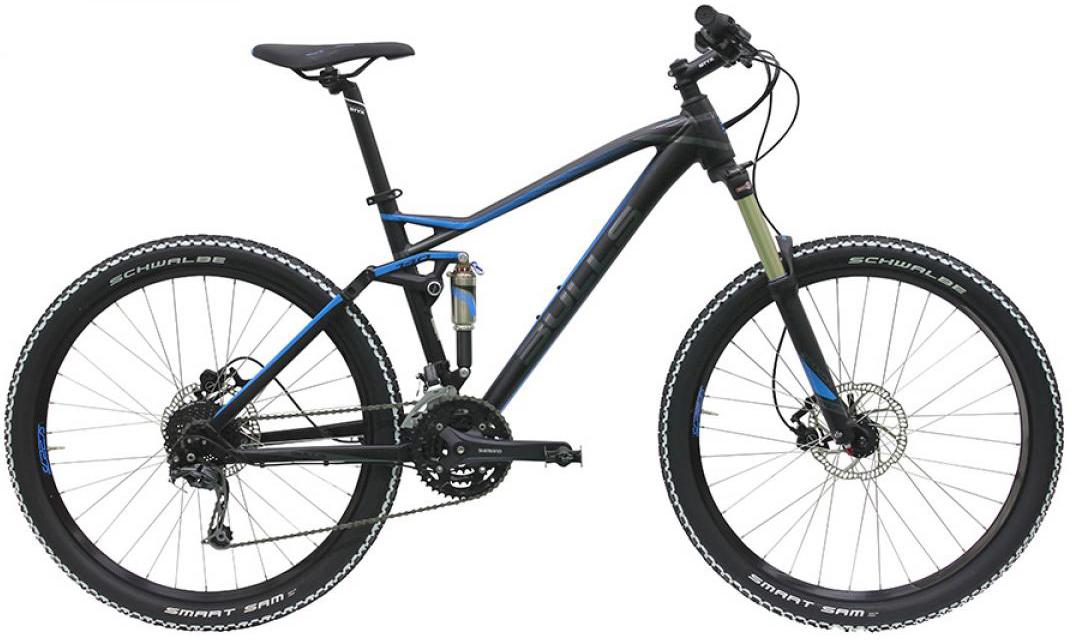 Велосипед горный Bulls Wild One (Wild Cup 1) 2016, двухподвесный, цвет: черный, рама 16, колесо 27,5257877