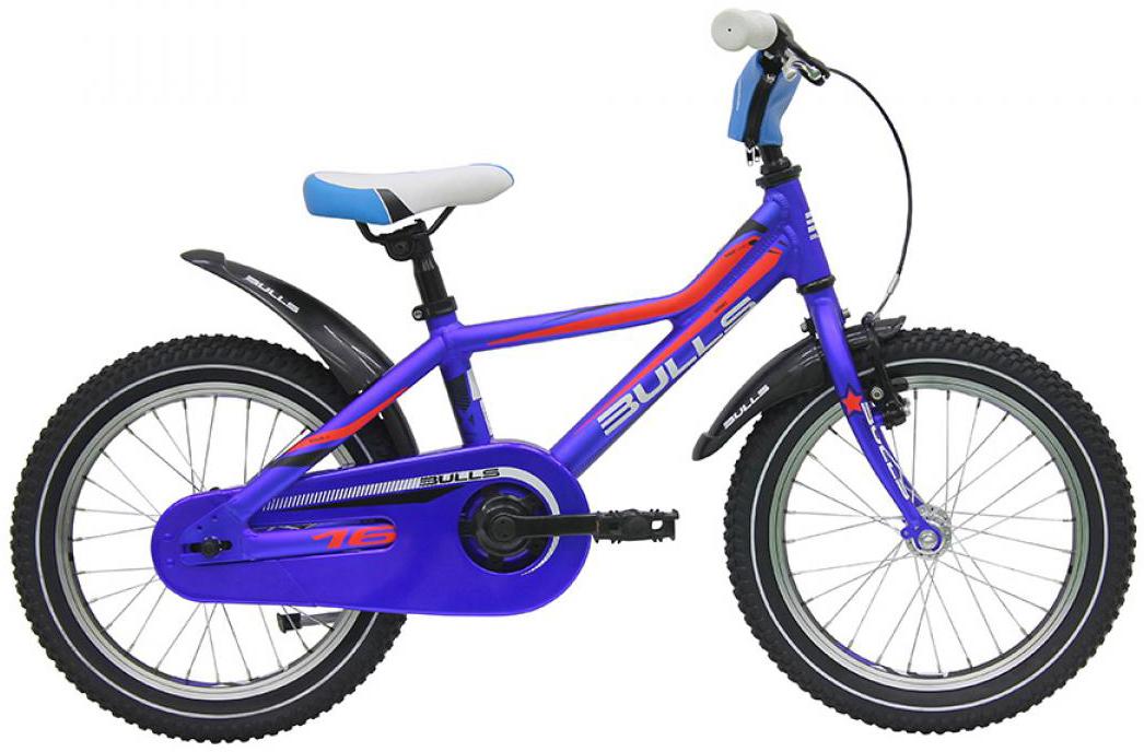 Велосипед детский Bulls Tokee Lite 2016, цвет: синий, колесо 16257880