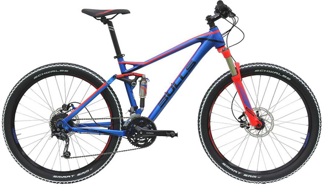 Велосипед горный Bulls Wild One (Wild Cup 1) 2016, двухподвесный, цвет: синий, рама 18, колесо 27,5257883