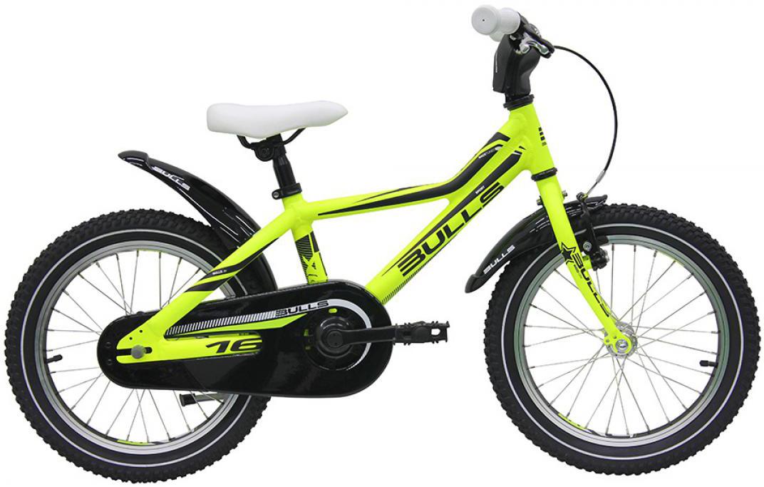 Велосипед детский Bulls Tokee Lite 2016, цвет: желтый, колесо 16257887