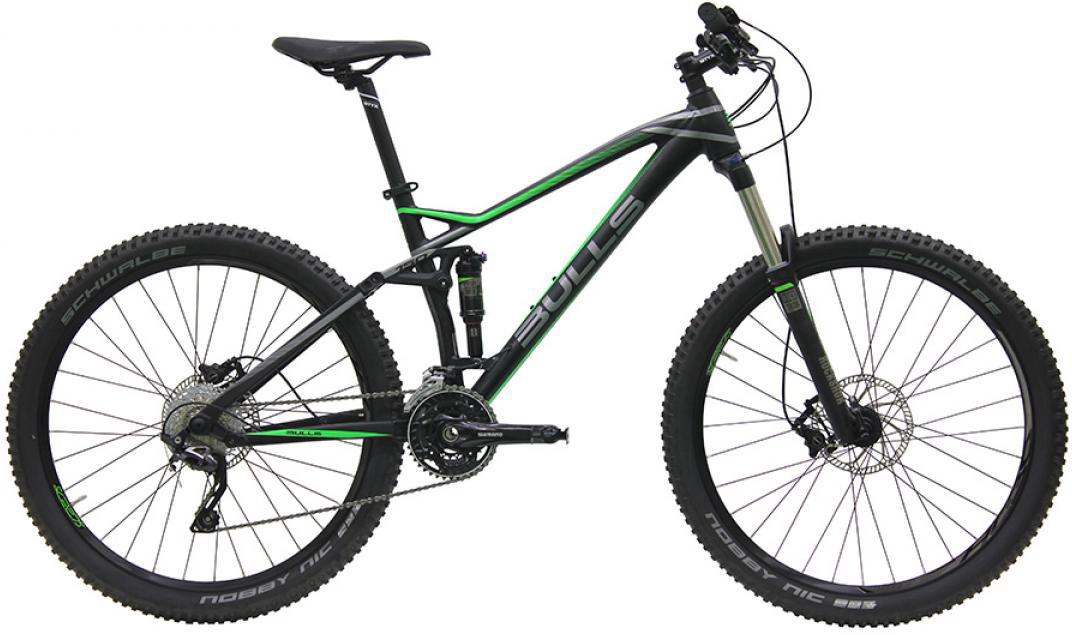 Велосипед горный Bulls Wild Cup 2 2016, двухподвесный, цвет: серый, рама 15,5, колесо 27,5257891
