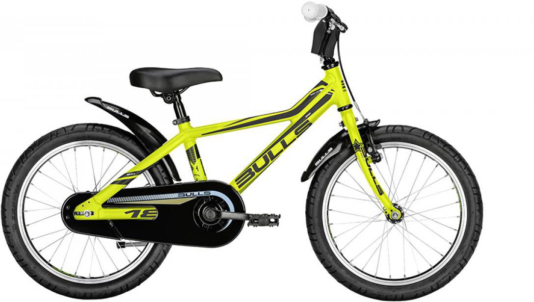 Велосипед детский Bulls Tokee Lite 2016, цвет: желтый, колесо 18257943