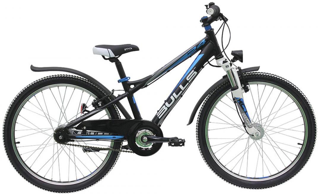 Велосипед детский Bulls Sharptail Street 7G Boy 2016, цвет: черный, колесо 24258020