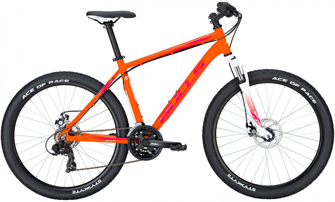 Велосипед горный Bulls Nandi 2017, цвет: оранжевый, рама 16, колесо 26270918