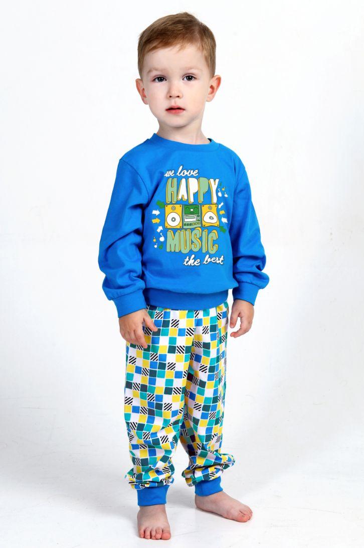Пижама для мальчика Melado Хип-Хоп, цвет: бирюзовый, голубой. MK2641/01. Размер 92MK2641/01Удобная пижама для мальчика от Melado, состоящая из свитшота и брюк, изготовлена из натурального хлопка. Свитшот с длинными рукавами и круглым вырезом горловины спереди оформлен ярким принтом. Принтованные брюки с эластичной резинкой на талии. Манжеты рукавов и брючин, низ свитшота дополнены трикотажными резинками.
