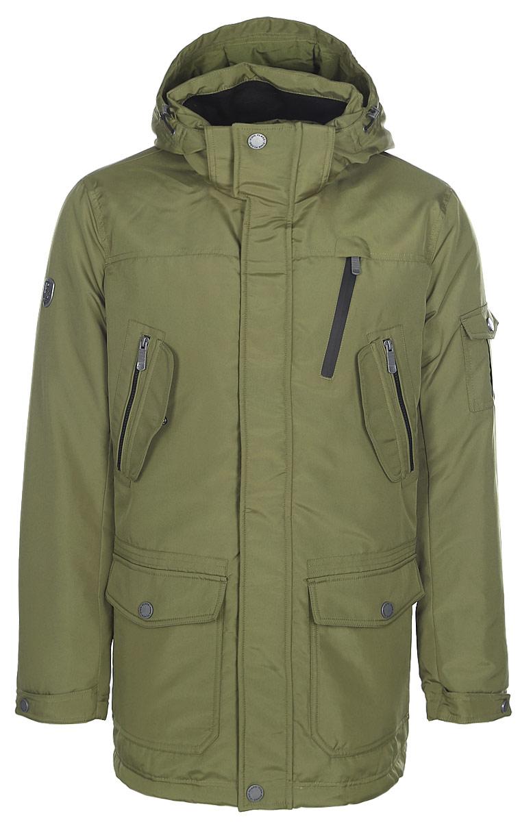 Пальто мужское Finn Flare, цвет: хаки. W17-22033_900. Размер XL (52)W17-22033_900