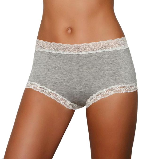 Купить Трусы-слипы женские Melado Ева, цвет: серый. ML2913/01. Размер 48
