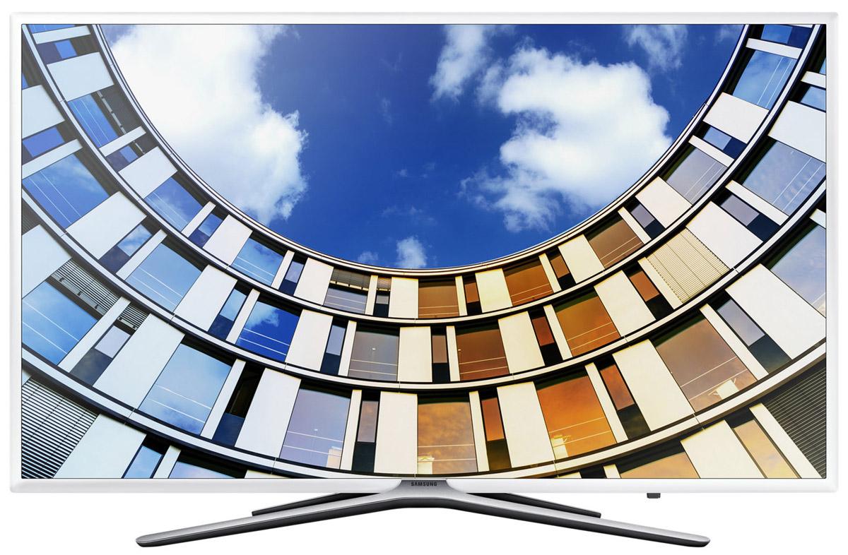 Samsung UE43M5513AUX телевизорUE-43M5513AUXSamsung UE43M5513AUX - новые впечатления от просмотра.Анализируя исходный контент с помощью нового алгоритма, технология Ultra Clean View формируетвысококачественное изображение с минимальными искажениями. Оцените четкость картинки на экране.Более объемное изображение благодаря эффекту перспективы. Функция усиления контрастности регулируетчеткость фрагментов изображения на разных планах, превращая плоское изображение в объемное.Изображение во всех деталях и оттенках даже в самых темных и светлых сценах. Технология локальногозатемнения Micro Dimming Pro делит экран на фрагменты, анализирует изображение в каждом из них и улучшаетпередачу деталей в тенях и светах.Функция Purcolour делает цвета более естественными. Погрузитесь в атмосферу ТВ развлечений и оцените,насколько точно и естественно отображаются цвета на экране.Гладкая бесшовная текстура корпуса телевизора идеально дополнит интерьер, где бы вы не установилителевизор.Улучшенный Smart Hub. Теперь весь контент находится на одном экране. Выбирайте разные приложения ипользуйтесь функцией предпросмотра, чтобы не прерывать текущий просмотр.Функция Smart View. Просто подключите ваше мобильное устройство к телевизору и просматривайте контент набольшом экране. А с помощью приложения Smart View вы сможете управлять телевизором прямо с мобильногоустройства.Вставьте любой накопитель в USB и смотрите на большом ТВ экране видео, фильмы, фотографии или слушайтемузыку.