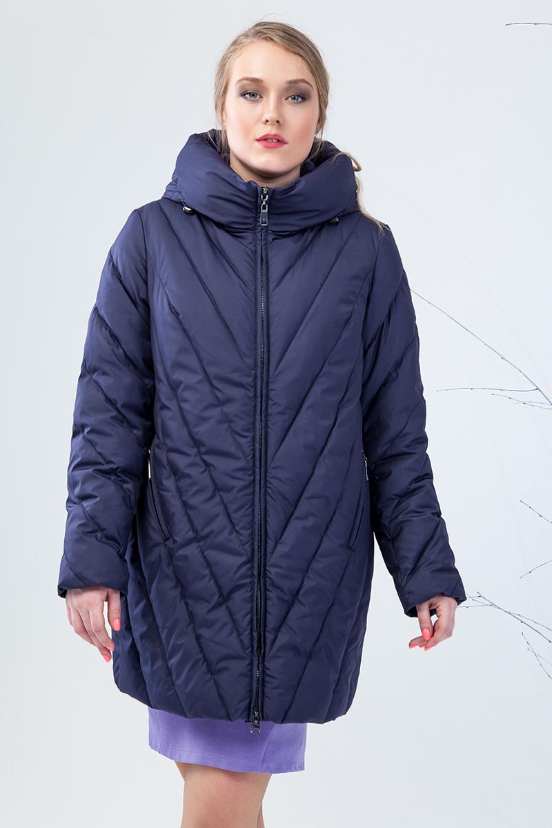 Куртка женская Clasna, цвет: темно-синий. CW17D-332CW. Размер 48 куртка утепленная clasna clasna cl016ewyfa03