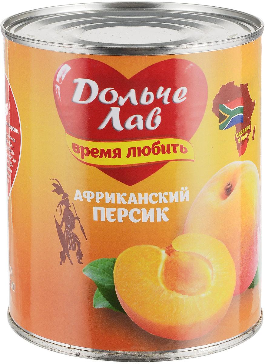 Дольче Лав персики половинками в сиропе, 850 мл персики в сиропе vitaland 850мл