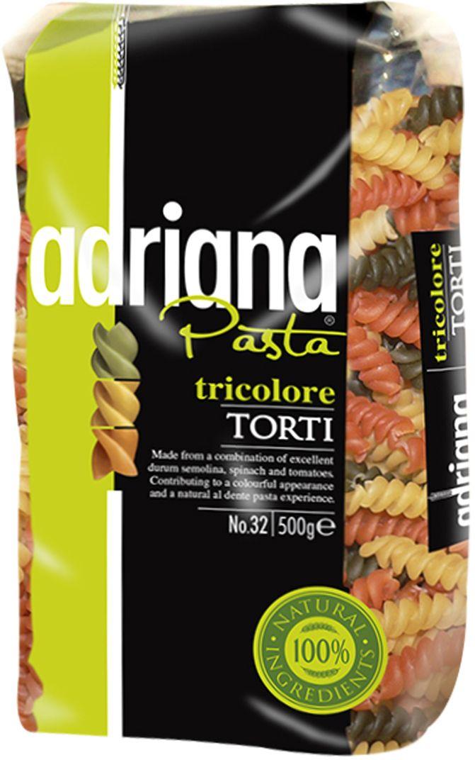 Adriana Pasta tricolore torti паста, 500 г pasta zara ракушка макароны 500 г